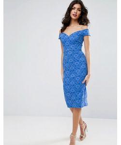 Asos | Облегающее Кружевное Платье Миди