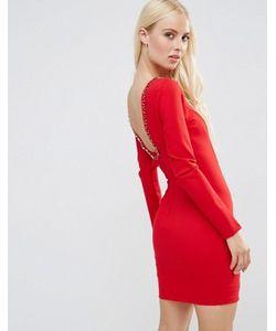 FOREVER UNIQUE | Платье Мини С Глубоким Вырезом Сзади И Отделкой Gwyneth