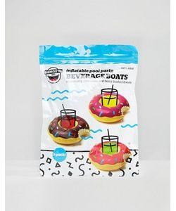 Gifts | Набор Из 3 Надувных Подставок Под Напитки Donut Pool Party