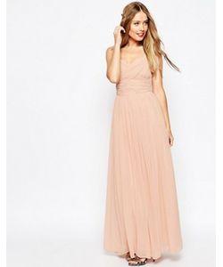 Asos | Платье Макси С Присборенной Вставкой Wedding
