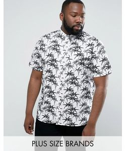 D-Struct | Рубашка С Пальмовым Принтом Plus Random