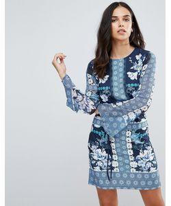 Jessica Wright | Цельнокройное Платье С Цветочным Принтом