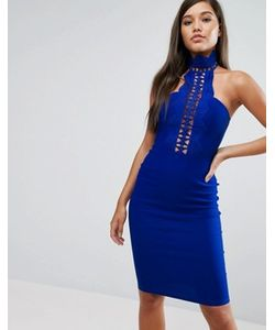 Rare | Платье-Футляр С Кружевной Отделкой И Высокой Горловиной London