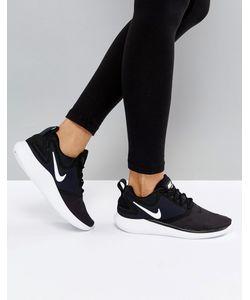Nike | Черно-Белые Кроссовки Running Lunarsolo
