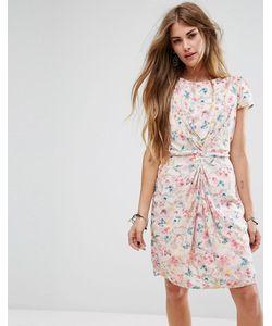 Yumi | Присборенное Спереди Платье С Принтом