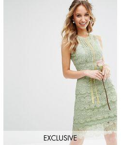 Body Frock | Многоярусное Платье Миди С Отделкой Bodyfrock