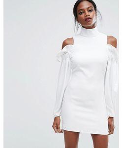 AQ AQ | Платье Мини С Оборками И Вырезами На Плечах Aq/Aq