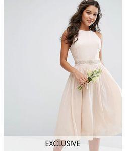 TFNC | Декорированное Платье Миди С Пышной Юбкой Wedding