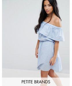 Vero Moda Petite | Платье С Открытыми Плечами И Оборкой