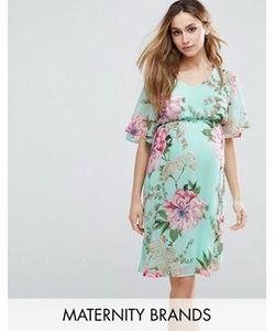 Mama Licious | Тканое Чайное Платье С Цветочным Принтом Mama.Licious