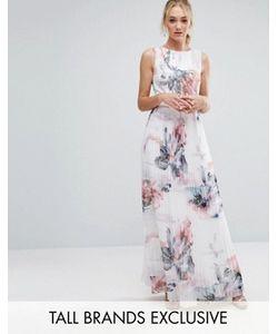 Little Mistress Tall | Платье Макси С Цветочным Принтом И Плиссированной Юбкой