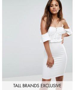 NaaNaa Tall | Платье Мини С Открытыми Плечами С Отделкой В Стиле Корсета Naanaa