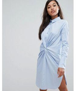 Lavish Alice | Хлопковое Платье-Рубашка С Перекрученным Дизайном