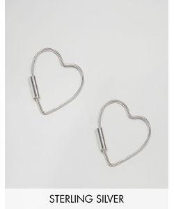 Kingsley Ryan | Серьги-Кольца С Контурным Сердцем