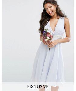 TFNC | Платье Миди С Глубоким Вырезом И Отделкой Wedding