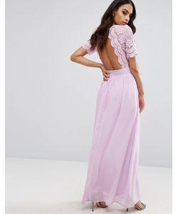 Club L | Платье Макси С Ажурным Верхом