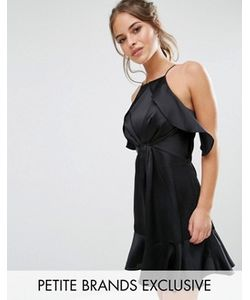 Jarlo Petite | Платье Мини С Высокой Горловиной И Рюшами