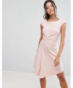 Closet London | Платье Миди С Коротким Рукавом И Присборенной Отделкой Closet