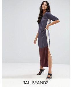 Y.A.S Tall | Длинное Платье Колор Блок Camis