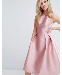 Chi Chi London | Структурированное Атласное Платье Для Выпускного