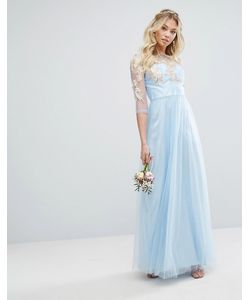 Chi Chi London | Premium Lace Maxi Dress With Tulle Skirt