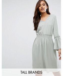 Y.A.S Tall | Короткое Приталенное Платье С Глубоким Вырезом Wilda