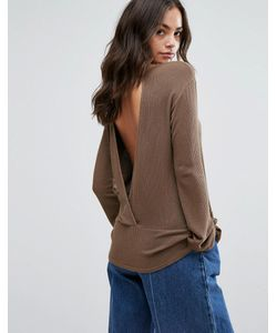 NYTT | Long Sleeve Top With Low Back