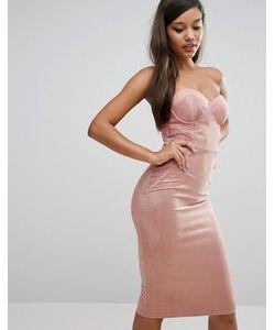 Rare | Платье-Футляр С Топом В Стиле Корсета И Вырезом Сердечком
