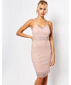 Fashion Union | Облегающее Кружевное Платье На Бретельках