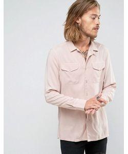 Asos | Розовая Классическая Рубашка Из Вискозы С Двумя Карманами
