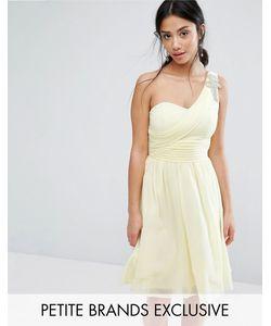Little Mistress Petite | Короткое Приталенное Платье На Одно Плечо Для Выпускного С Отделкой Little