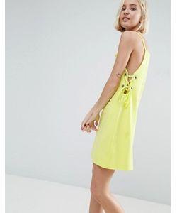 Asos | Платье Мини Со Шнуровкой И Люверсами