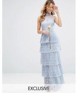 Body Frock | Кружевное Платье Макси С Плиссированной Ярусной Юбкой Bodyfrock