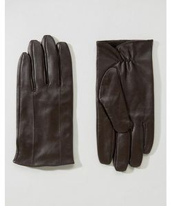 Barney's Originals   Коричневые Кожаные Перчатки Barneys