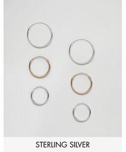 Asos | Комплект Из 3 Серег-Колец Диаметром 12 14 И 16 Мм