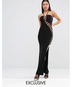 Club L | Платье Макси С Решеткой Из Лямок Sexy Dare