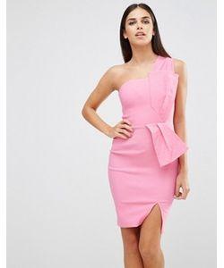 Vesper | Платье На Одно Плечо С Бантом
