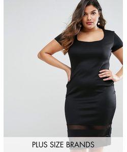 Goddiva plus | Платье С Прозрачными Вставками