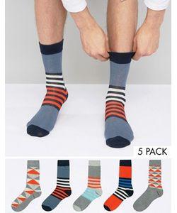 Jack & Jones | 5 Pack Patterned Socks