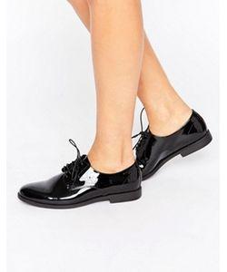 Vagabond | Черные Лакированные Кожаные Туфли На Шнуровке Tay