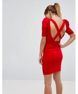 Asos | Облегающее Платье Мини В Рубчик