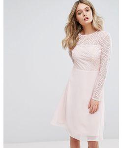 Elise Ryan | Платье Миди С Вышивкой