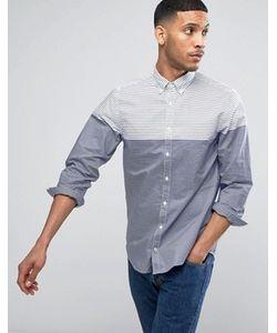 Tommy Hilfiger | Рубашка Классического Кроя В Полоску Белого/Темно-Синего Цвета