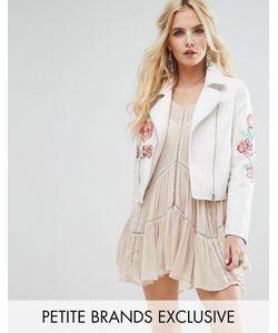 Glamorous Petite | Байкерская Куртка С Отделкой Заклепками И Вышивкой