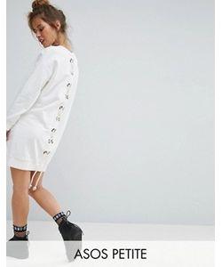 ASOS PETITE | Трикотажное Платье Со Шнуровкой На Спине