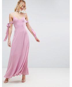Asos | Платье Макси На Бретельках С Бантиком