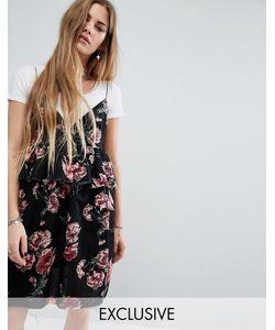 Reclaimed Vintage | Жаккардовое Платье На Бретельках С Необработанным Краем