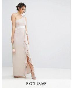 TFNC | Платье Макси На Одно Плечо С Оборкой Wedding