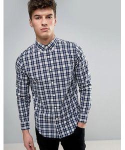 Abercrombie and Fitch | Поплиновая Облегающая Рубашка В Клетку Abercrombie Fitch