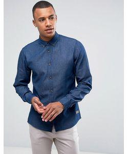 Solid   Джинсовая Рубашка Классического Кроя